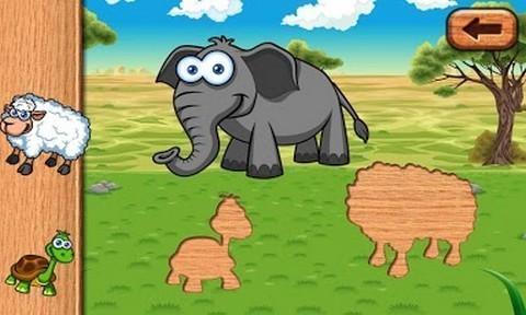 有趣的动物拼图