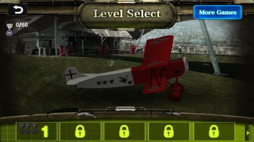 尝试红男爵飞机安全降落到地面
