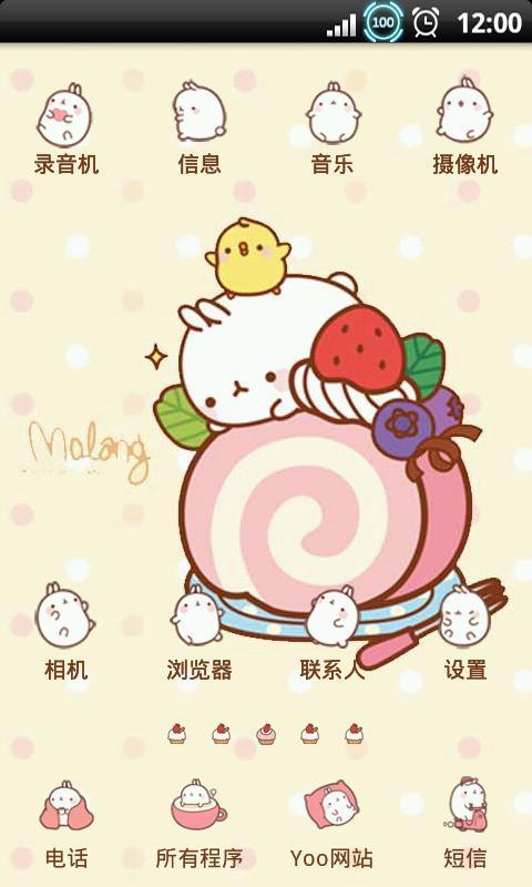 yoo主题-超萌胖兔子