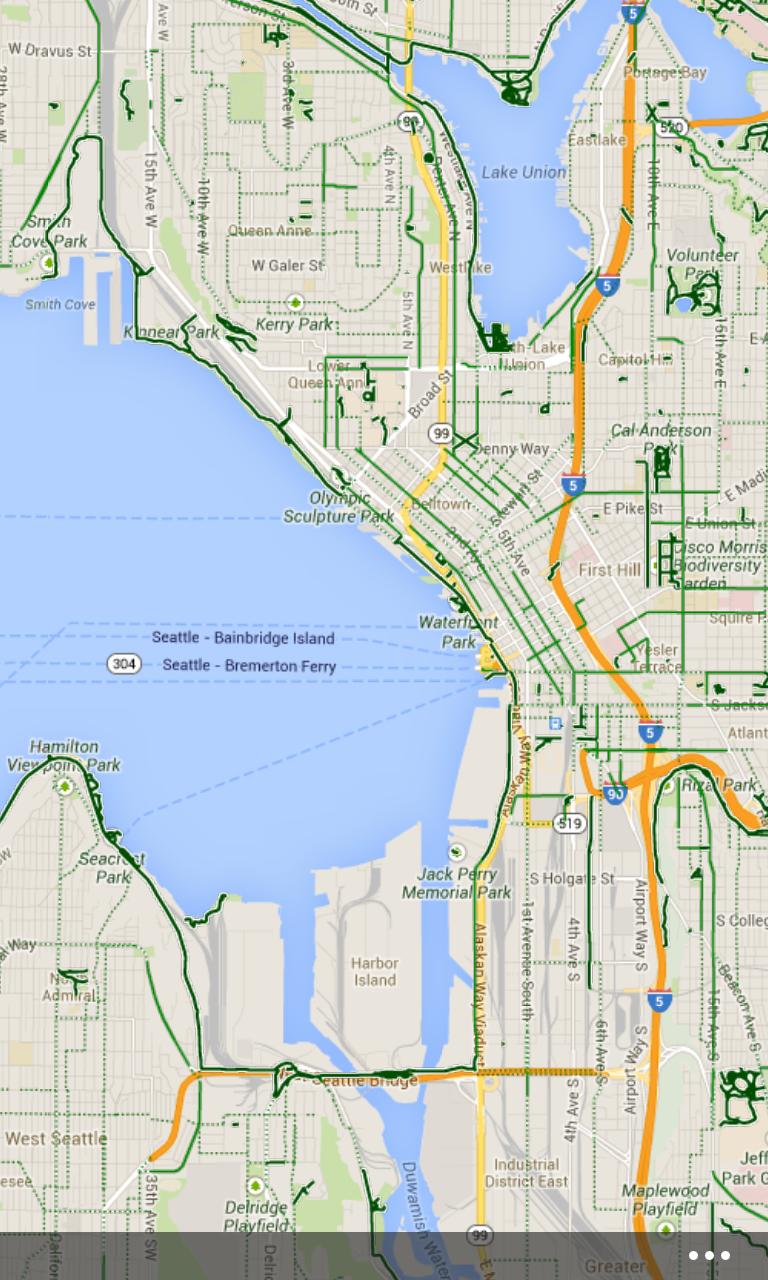 用谷歌地图探索陌生的地域
