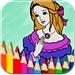 公主涂色绘本 - 涂色秀秀 - 画板涂色本二合一